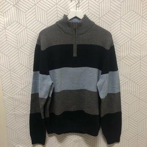 BROOKS BROTHERS stripe 3/4 lip sweater size Large
